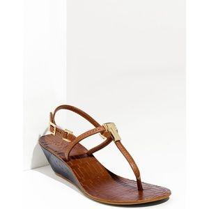 Tory burch pauline wedge sandal brown 9